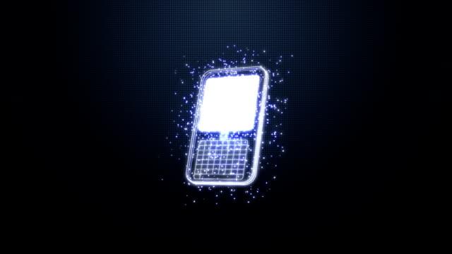 laptop smart phone tablet HUD animation high definition video