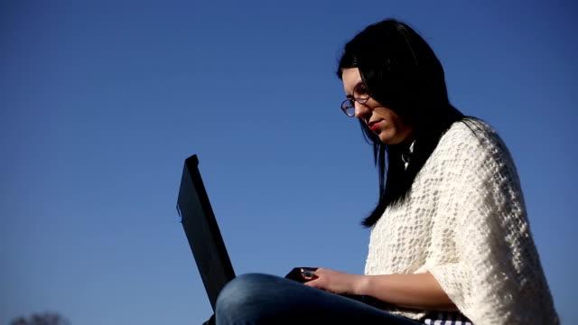laptop typing video