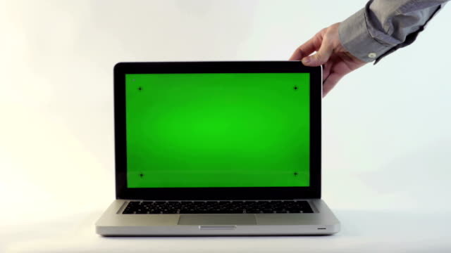 Laptop with a Green Screen video