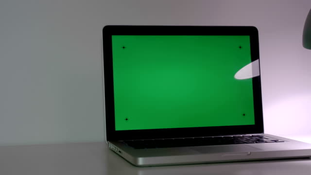 Laptop With  Green Screen video