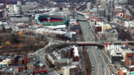 Large aerial of the city of Boston, Massachusetts video