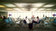 Large airport style environment video