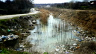 A large amount of trash polluting our waters video