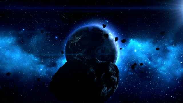 Large Asteroid Heading Towards Earth video