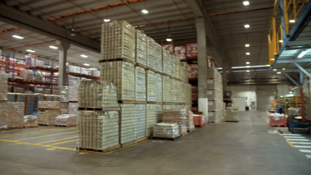 Large canned food warehouse video