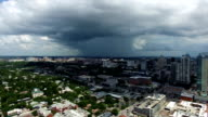 Large dark Thunderstorm Cloud moves over Austin Texas dropping Rain in the distance video