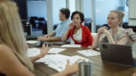 Large Discussion in Modern Office Space video