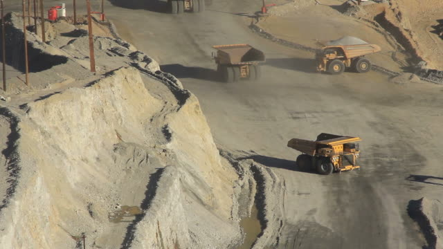 large dump truck in utah mine video