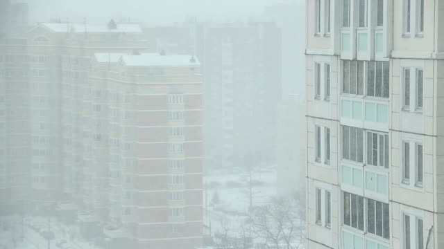 Large flakes of snow. video