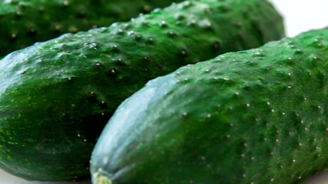 large fresh cucumbers video