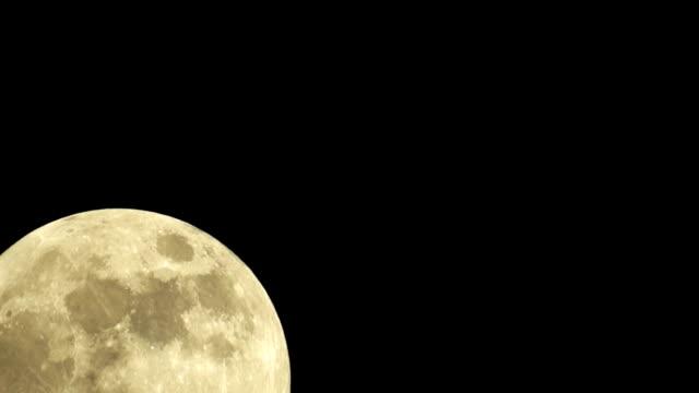Large Full Golden Moon video