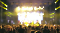 Large group of people at concert. video