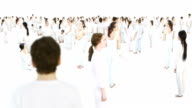 Large group of people in white video