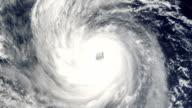 Large hurricane swirls in the ocean video