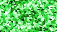large irregular shape pattern background green fast video