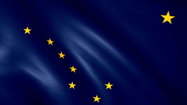 Large Looping Animated Flag of Alaska video