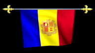 Large Looping Animated Flag of Andorra video