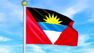 Large Looping Animated Flag of Antiqua and Barbuda video
