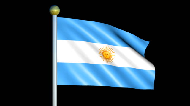 Large Looping Animated Flag of Argentina video
