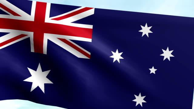 Large Looping Animated Flag of Australia video