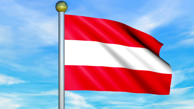 Large Looping Animated Flag of Austria video