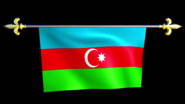 Large Looping Animated Flag of Azerbaijan video