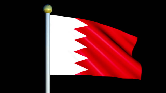 Large Looping Animated Flag of Bahrain video