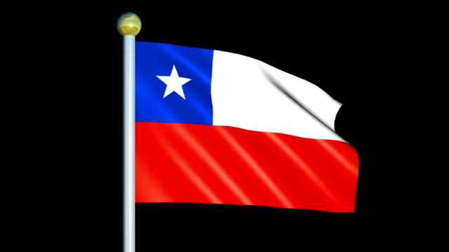 Large Looping Animated Flag of Chile video