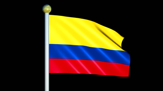 Large Looping Animated Flag of Colombia video