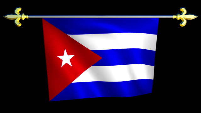 Large Looping Animated Flag of Cuba video