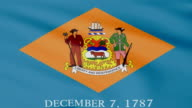 Large Looping Animated Flag of Delaware video
