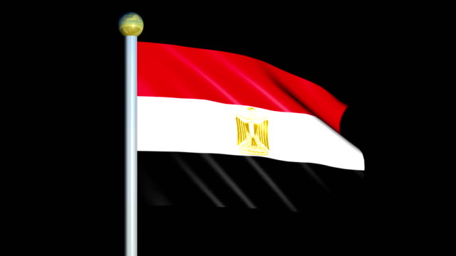 Large Looping Animated Flag of Egypt video