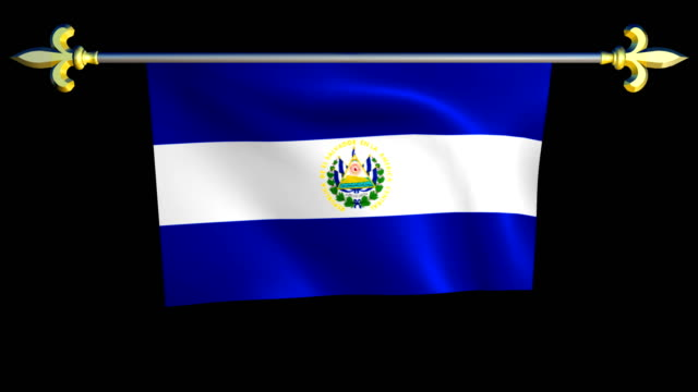 Large Looping Animated Flag of El Salvador video