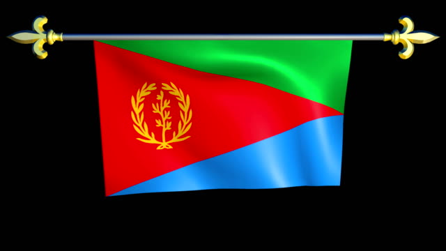 Large Looping Animated Flag of Eritrea video