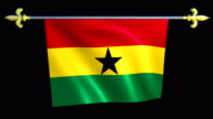 Large Looping Animated Flag of Ghana video