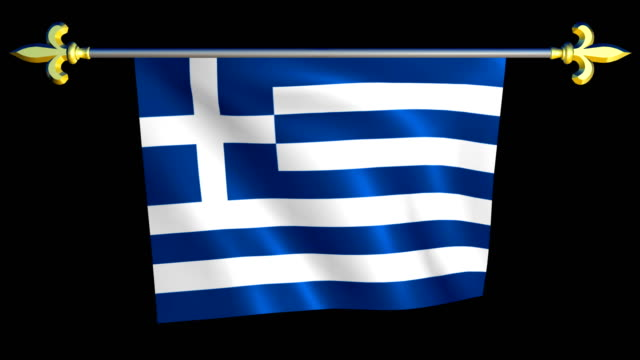 Large Looping Animated Flag of Greece video
