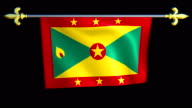 Large Looping Animated Flag of Grenada video
