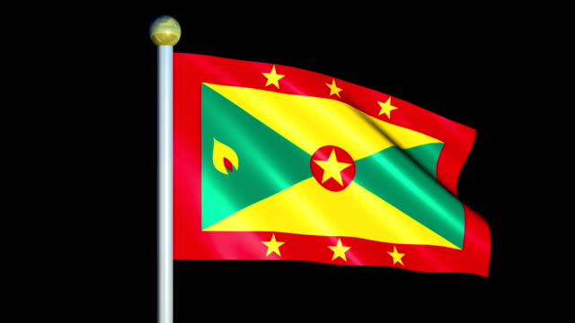 Large Looping Animated Flag of Grenada video