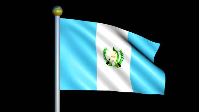 Large Looping Animated Flag of Guatemala video