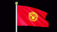 Large Looping Animated Flag of Kyrgyz Republic video