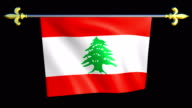Large Looping Animated Flag of Lebanese Republic video