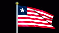 Large Looping Animated Flag of Liberia video