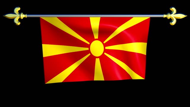 Large Looping Animated Flag of Macedonia video