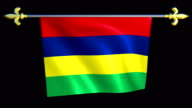 Large Looping Animated Flag of Mauritius video