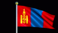 Large Looping Animated Flag of Mongolia video