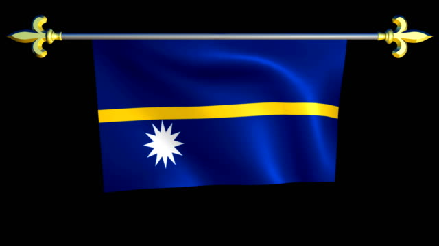 Large Looping Animated Flag of Nauru video