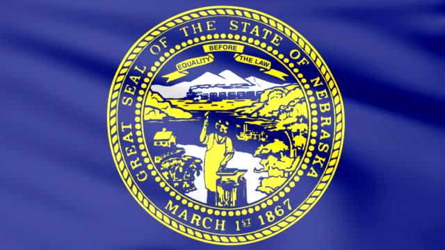 Large Looping Animated Flag of Nebraska video