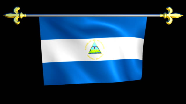 Large Looping Animated Flag of Nicaragua video