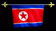 Large Looping Animated Flag of North Korea video