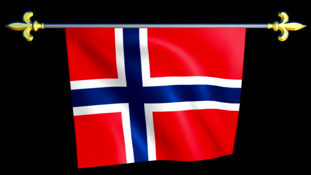 Large Looping Animated Flag of Norway video